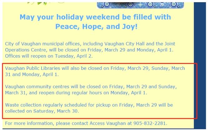 Eradium email marketing blog city of Vaughan