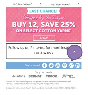 Eradium ecommerce email marketing-weekly-spotlight-4-product showcase Yarnspirations 2