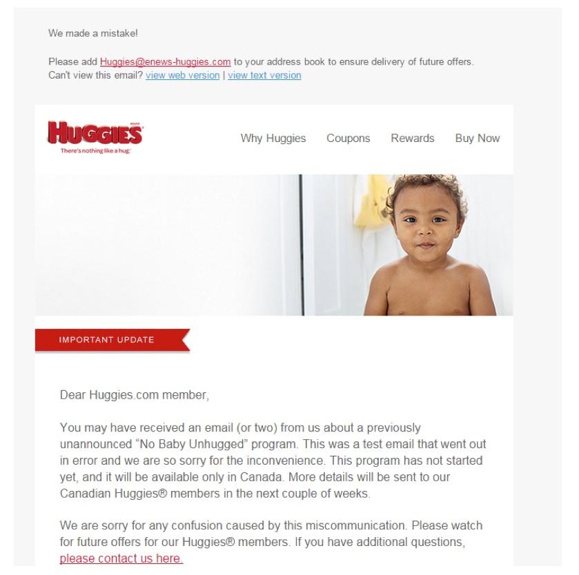 Eradium ecommerce email marketing weekly spotlight 6 testing mobile Huggies