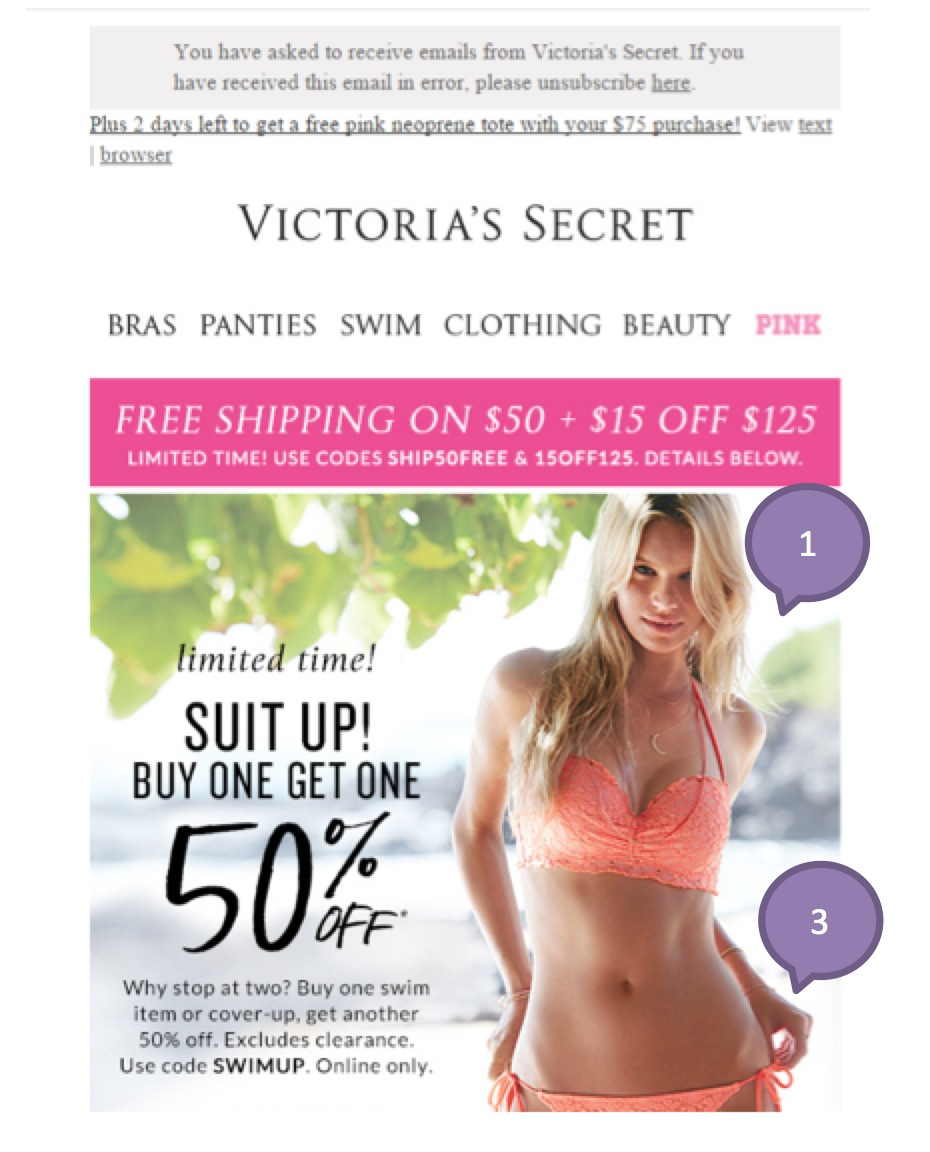 Eradium ecommerce email marketing weekly spotlight 6 testing victorias secret-1