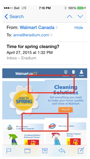 Eradium ecommerce email marketing weekly spotlight 6 testing mobile view walmart -1