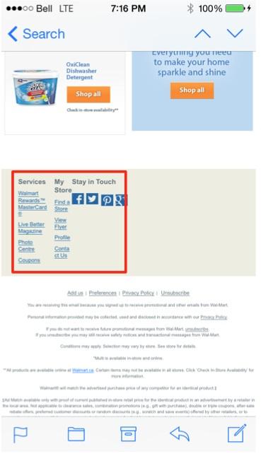 Eradium ecommerce email marketing weekly spotlight 6 testing mobile view walmart -2