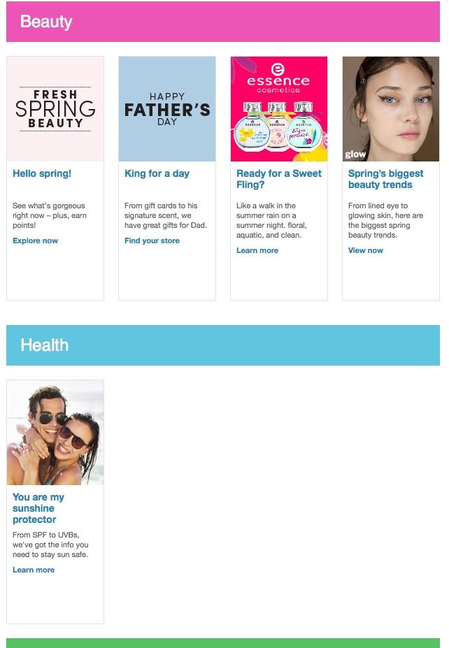 Eradium recommender system-blog-shoppers-drug mart email 3