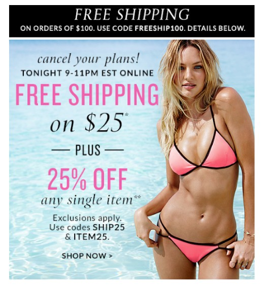 Eradium ecommerce email-marketing blog 9 the science of color Victoria Secret