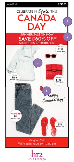 Eradium ecommerce email-marketing Canada Day HR2