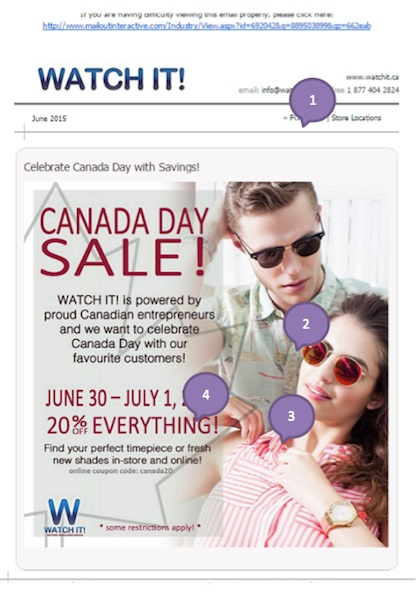 Eradium ecommerce email-marketing Canada Day Watch IT