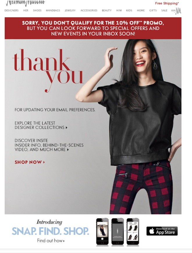 Eradium ecommerce email- marketing promotional discount -Neiman-Marcus