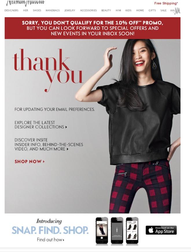 Eradium ecommerce email- marketing promotional discount -Neiman-Marcus