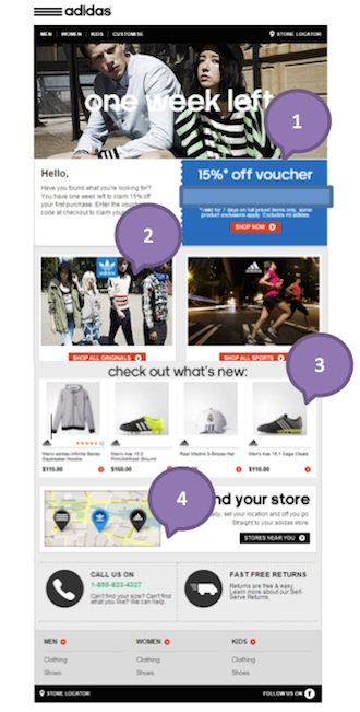 Eradium ecommerce email- marketing promotional discount adidas 2