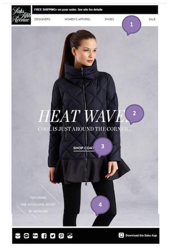 Eradium luxury email marketing Saks Fifth Avenue