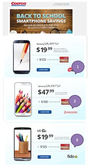 Eradium back-to-school email marketing Costco