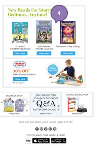 Eradium back-to-school email marketing Indigo