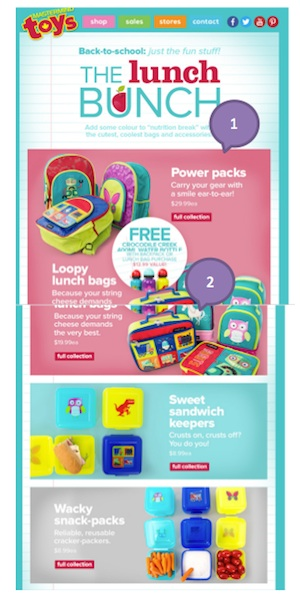 Eradium back-to-school email marketing Master Mind Toys