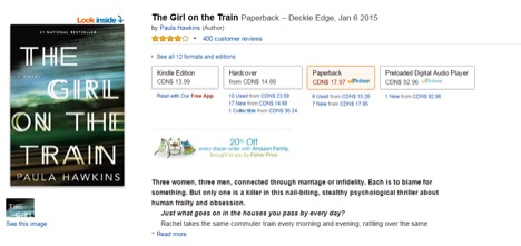 Eradium ecommerce review indigo Amazon-the-girl-on-the-train