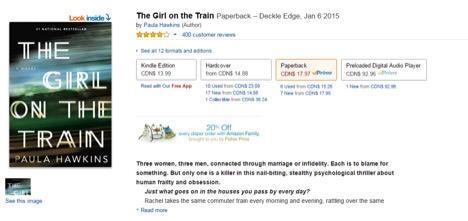 Eradium ecommerce review indigo Amazon-the-girl-on-the-train