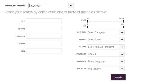 Eradium ecommerce review indigo advanced-search