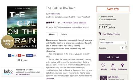 Eradium ecommerce review indigo price-the-girl-on-the-train