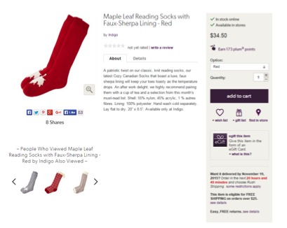 Eradium ecommerce review indigo product-page