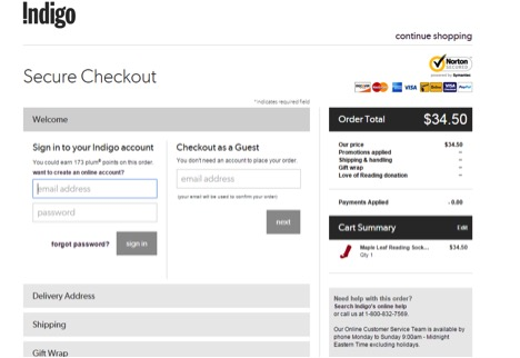 Eradium ecommerce review indigo secure-checkout
