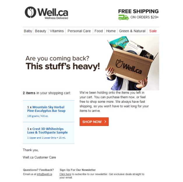 Eradium ecommerce review well.ca email