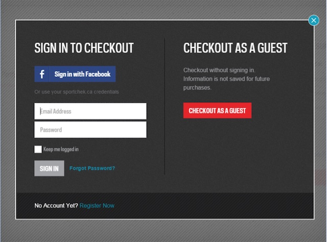Eradium ecommerce review Sportchek checkout-sign-in-page-desktop