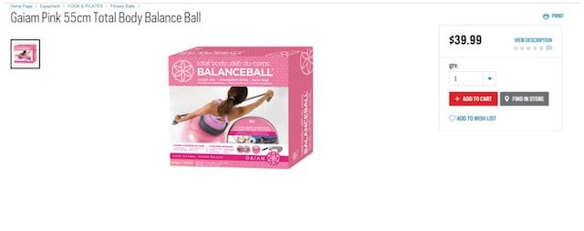 Eradium ecommerce review Sportchek price compare balanceball Sport chek