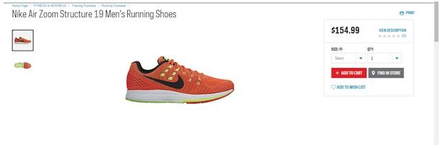 Eradium ecommerce review Sportchek price compare running shoes sportchek