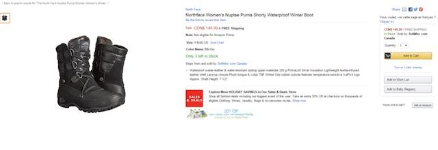 Eradium ecommerce review Sportchek price compare women's winter boots amazon