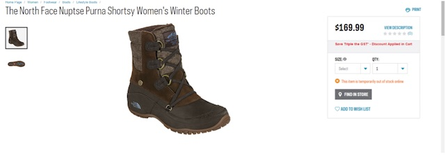 Eradium ecommerce review Sportchek price compare women's winter boots Sportchek