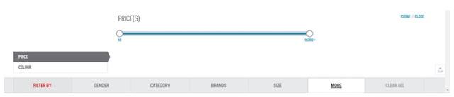 Eradium ecommerce review Sportchek search result filters desktop