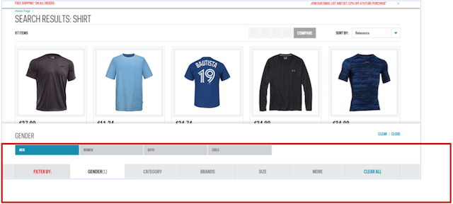 Eradium ecommerce review Sportchek search result page desktop