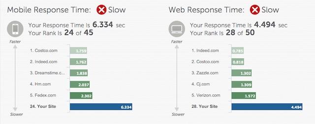 Eradium ecommerce review Sportchek speed test report card