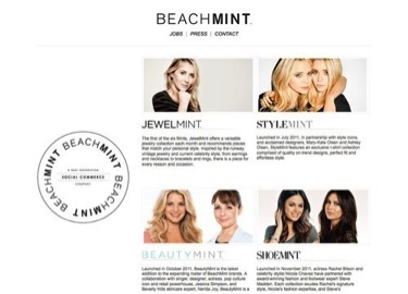 curated commerce beach mint