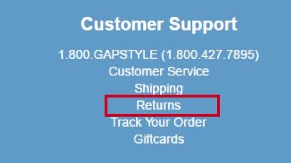 eradium blog customer service Gap retunrs