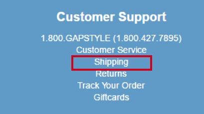 eradium blog customer service Gap shipping