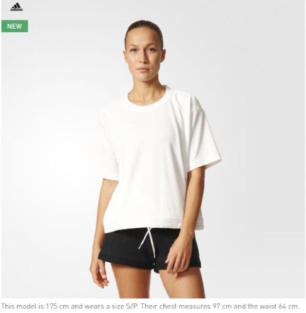 Eradium fashion and ecommerce model size adidas