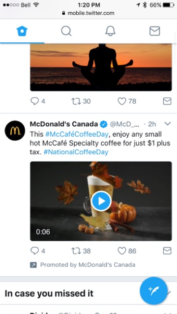 witter McDonald Canada ad