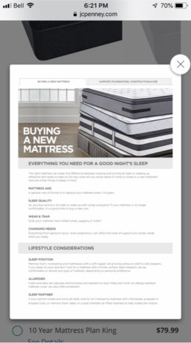 jcpenney mattress-screen-eradium-5-ui-hacks-blog