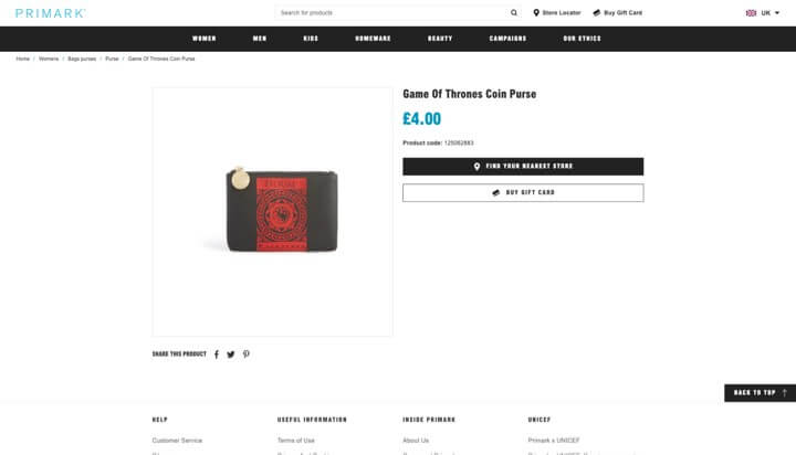 primark e-gift-card product page