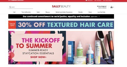 sallybeauty site example